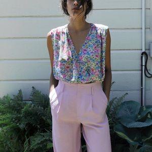 Zara TRF floral print bodysuit